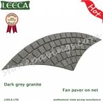 Natural stone paving driveway cobblestone mat
