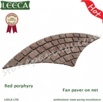 Fan red porfido cobblestone Chinese porphyry paving stones