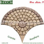 Granite porphyry paving stones fan pattern cobblestone