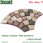 Driveway paver stones, granite fan shaped paving stone Dubai