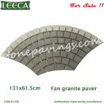 Fan pattern driveway stone mat driveway paving stone