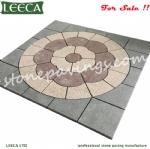 Cobblestone design garden paving stone