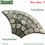 Polished flamed paver stones for garden walkways