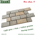 Granite stone paver interlocking stone