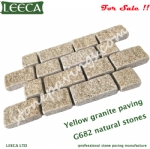 Yellow granite paving types of interlocking stone