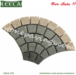 Doha paving stones on net fan pattern cobblestone