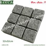 30x30cm stone paver grey granite paving stones LEECA Dubai