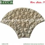 China yellow granite G682 mesh cobblestone pavers stones Dubai