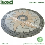 Paver patio patterns granite cobble paving stone circle