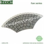 Fan shape granite cobblestone paver mats