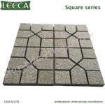 Dark grey G654 granite paver stones driveway paving tiles