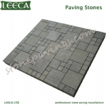 LEECA pavement black granite pavers mesh