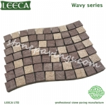 Granite porphyry flamed stones wavy pavers