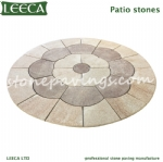 Paver granite pattern stones for garden walkways