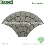 Fan pattern granite stone pavers