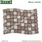 Wavy paving stones porphyry on net
