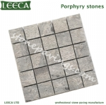 Colorful rose porphyry on mesh