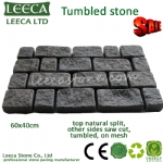 Dark grey tumbled paving stone - 14th Xiamen Stone Fair H11